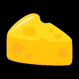 穴あきチーズの無料ベクターイラスト素材