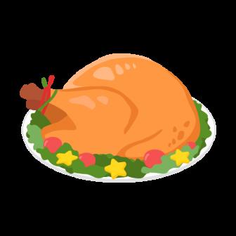 鶏の丸焼きの無料ベクターイラスト素材
