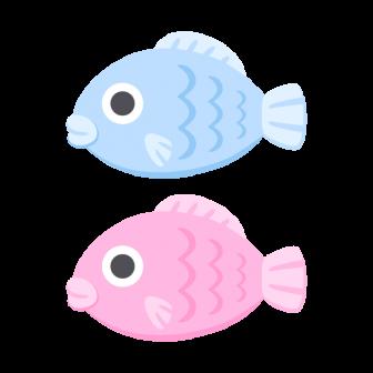魚/2色の無料ベクターイラスト素材