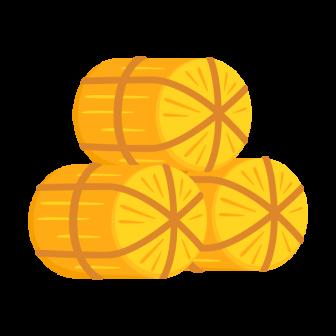 3俵の米俵の無料ベクターイラスト素材