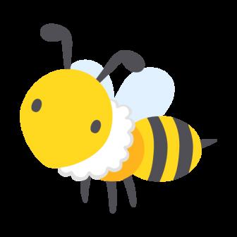 ミツバチの無料ベクターイラスト素材