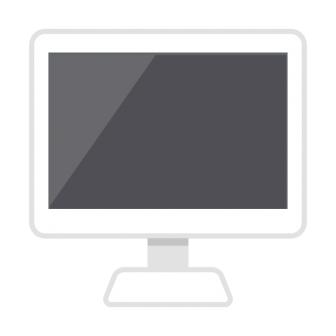 デスクトップPC(白)の無料ベクターイラスト素材