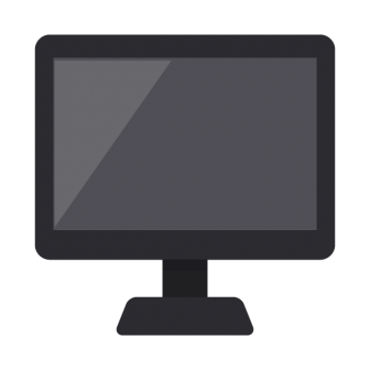 デスクトップPC(黒)の無料ベクターイラスト素材