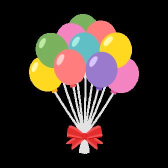 風船の束の無料ベクターイラスト素材