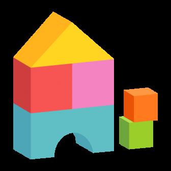 おもちゃの積み木(カラフル)の無料ベクターイラスト素材