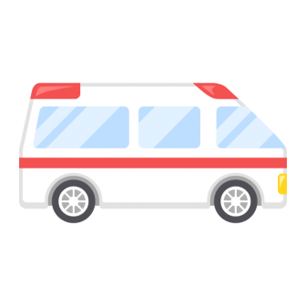 救急車の無料ベクターイラスト素材