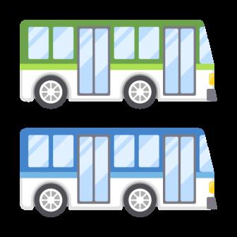 路線バス/2色の無料ベクターイラスト素材