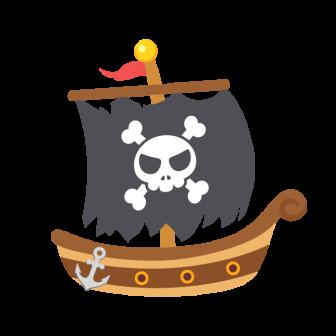 海賊船の無料ベクターイラスト素材