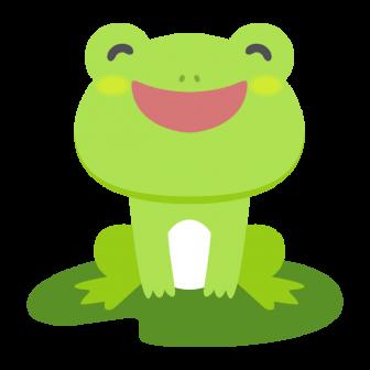 笑顔のカエルの無料ベクターイラスト素材